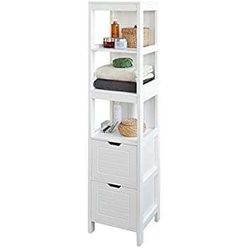 Kommode bad  Badezimmer Kommode in weiss - Badezimmerschrank: Amazon.de: Küche ...