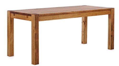 Brasilmöbel® Esstisch 140x80x78 Rio Kanto - Brasil Pinie Massivholz - Größe & Farbe wählbar - Esszimmertisch Küchentisch Holztisch Echtholz - vorgerichtet für Ansteckplatten - Tisch