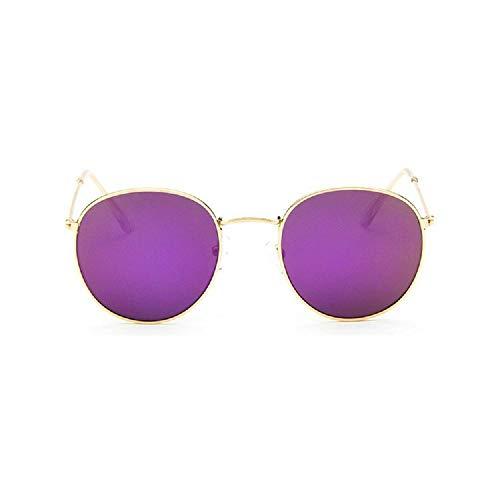 XIAONK Sonnenbrille Retro Sonnenbrille mit rundem Gestell, feine Seitensonnenbrille, rote Modelle, Sonnenbrille@Lila