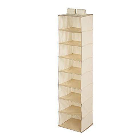 Honey-Can-Do SFT-01253 Hanging Closet Organizer, Natural, 8-Shelf