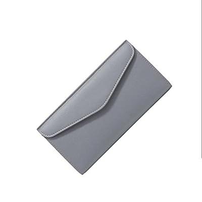 ZLR Mme portefeuille Porte-clés à carreaux Portefeuille multifonctionnel en cuir pour femme