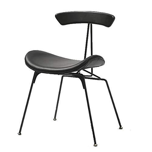 Massivholz-gestell Mit Fußstütze (ZY Industriedesign Bar Barhocker Stuhl Küchenstuhl,Kunstleder gepolsterte Massivholz Rückenlehn,Metallrahmen mit Fußstütze,Geeignet für Küchenbar Büro,D)