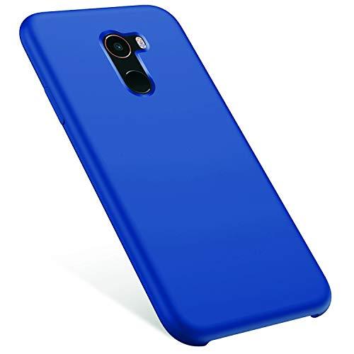 MoreChioce kompatibel mit Xiaomi MI Mix 2 Hülle,kompatibel mit Xiaomi MI Mix 2 Handyhülle,Kratzfest TPU Flexible Weiche Flüssige Silikon Crystal Schutzhülle Stoßfest Bumper,Dunkelblau,EINWEG Crystal Case-mix-tier