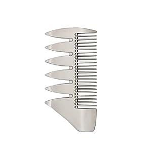 Healifty Dual Sides Alloy Anti-Static Rasierkamm Bürste Haar Bart