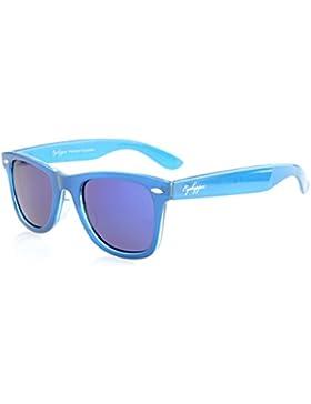 Eyekepper Classic 80's occhiali da sole polarizzati Vintage Blue/Blue Mirror