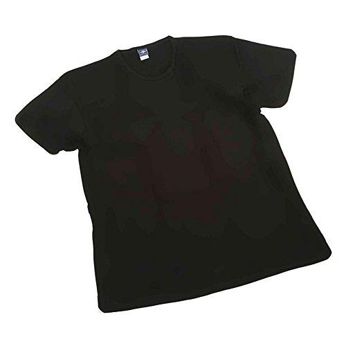 Maglia t-shirt intimo taglie forti uomo girocollo Maxfort 501 - 3 pezzi - Nero, 4XL