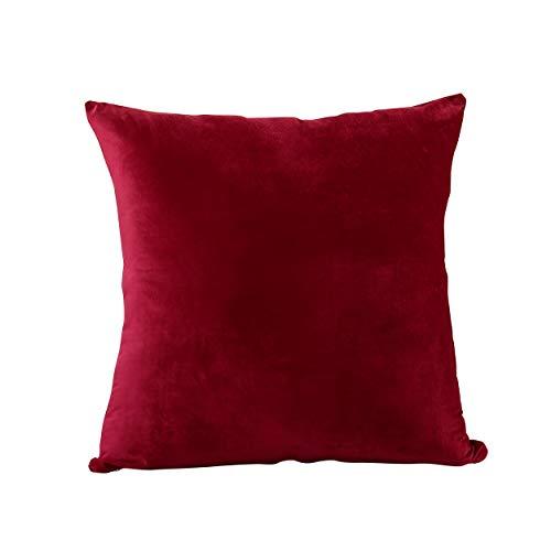 Euro Kissen-abdeckungen (Evolive Soft Micromink Euro Sham-Abdeckung Pillowcase Replacement mit Reißverschluss Wein 26