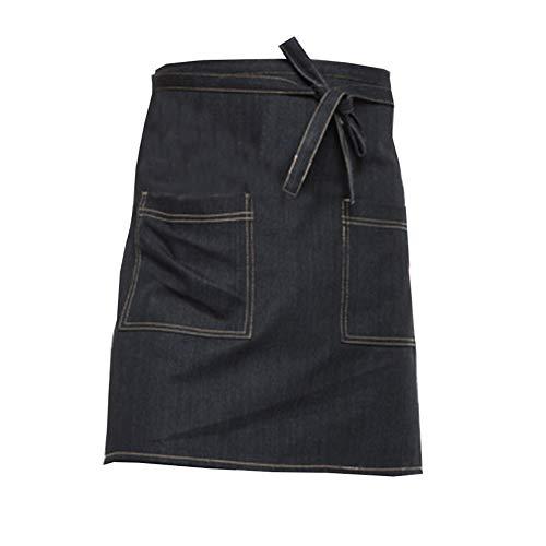 Denim Short Schürze Mit 2 Roomy Pocket,Öl & Schmutz-waschbar,werbemarbe-hausküche Schürze & Maler Bib-b 68x50cm(27x20in) - Denim-zwei-pocket-shorts