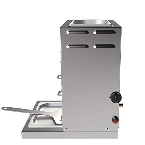 F&F 928°C Original Grill Röster. E35T. 3,5 kW. Doppelwandiger Oberhitze-Grill mit