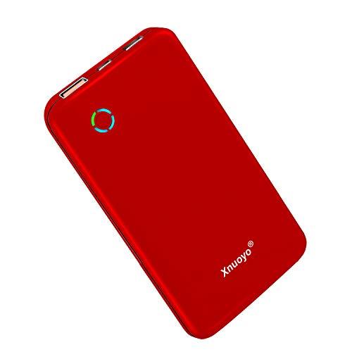 Xnuoyo USB-C PD 18W Powerbank 10000mAh, QC 3.0 Tragbares Ladegerät Typ-C Input/Output Externer Akku Hohe Kapazität Powerbank Kompatibel mit den Meisten Smartphones (Red)