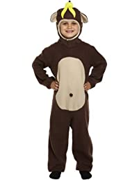 BOYS GIRLS KIDS CHEEKY MONKEY ONESIE APE ANIMAL FANCY DRESS COSTUME 4 - 6 YEARS