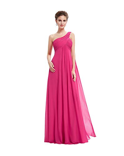 eafa91367c Ever-Pretty Plus One Shoulder Long Prom Evening Gowns Bridesmaid Dresses  09816 Hot Pink 4