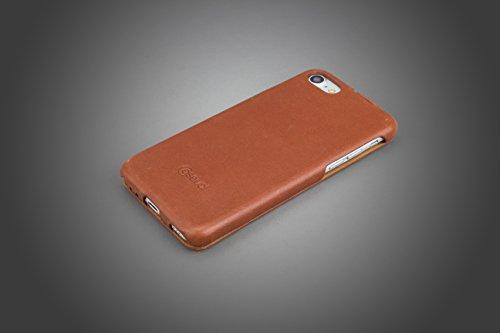 CASEual, iPhone 7 Schutzhülle, LeatherFlip, Echtes Leder, Flipcase, Italian Black Italian Brown