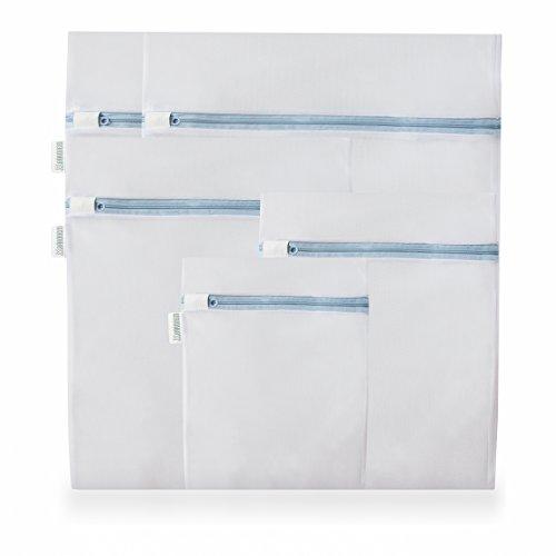 BÄRQUEM Wäschebeutel im 5er Set mit Reißverschluss I Wäschenetz für die Waschmaschine I Optimal geeignet als Reiseorganizer (Besten Baby-kleidung)
