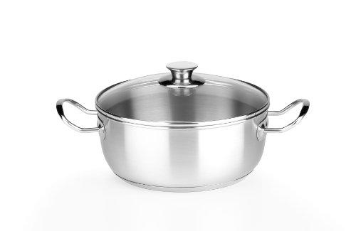 Monix Chef - Cacerola de 24 cm con tapa de cristal
