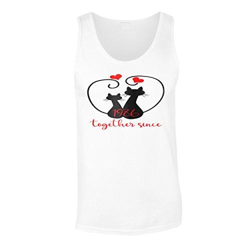 Gatti che amiamo insieme dal 1986 canotta da uomo f206mt White
