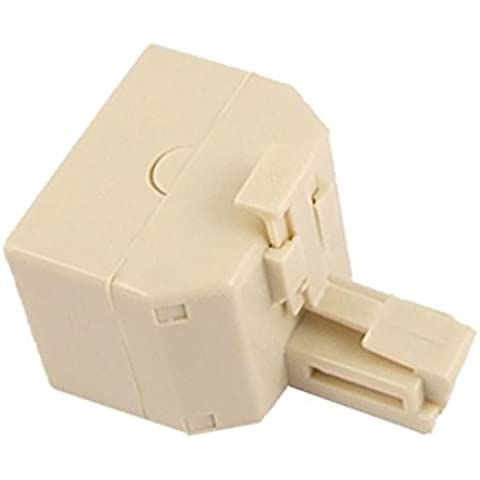Water & Wood RJ11 Duplex Jack Telephone Cable Adapter Coupler 2 Pcs