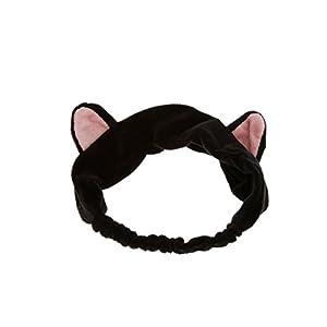 SROVFIDY Haarband Stirnband Haarbänder Haarschmuck Haarreifen mit Katze-Ohr für Gesichtswäsche Make up
