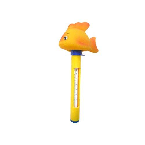 OUNONA Niedlichen Tier Schwimmbecken Thermometer mit String Indoor Outdoor Verwendung für Schwimmbäder Aquarien Hot Tub Spa Whirlpool (Gelb)