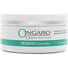 Ongaro Organic Body Butter Restores, Softens, and Moisturizes Dry Skin, Fresh Clean Scent; with Probiotic Technology, Aloe Vera, Apple Stem Cells, Peptides, and Vitamin C and E; 8oz