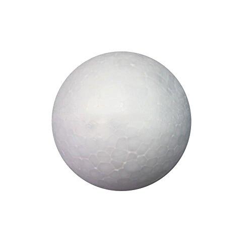 Greenlans 10pezzi, sfere in polistirolo espanso da 50mm e 60mm, bianco, sfere per fai da te, ornamento, bianco, 5 cm