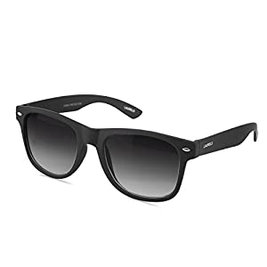 Laurels Urbane UV Protected Matt Finish Wayfarer Unisex Sunglasses - Black Lens - Ls-Urb-020202