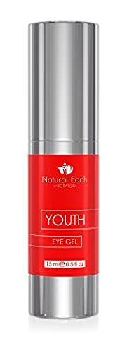 BEST Youth Eye Gel for Dark Circles, Wrinkles, Puffiness & Bags. With Vitamin E, passionfruit and blueberry extract, & Vitamin