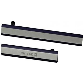 on sale edf2e 9bcef Sony Xperia Z2 Side Cover Set USB jack cover / SIM card cover - Black