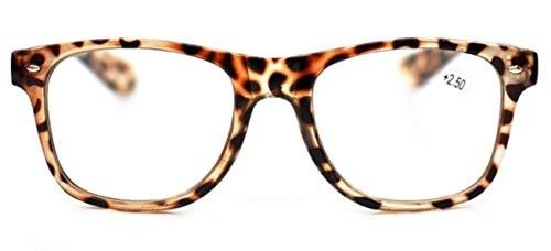 Fads & Fashions Tn49 Retro Wayfarer Stil Lesebrille + 1,0 + 1.25+1.50+2.0+2.5 erhältlich in 16 Colours - Schildpatt
