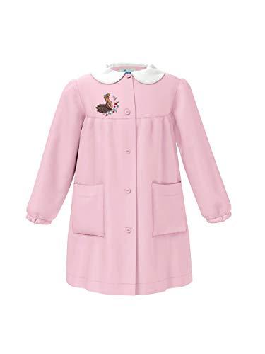 Siggi grembiule scuola elementare e media bimba bambina rosa disegno/ricamo variabile da 6 anni a 15 anni (10 anni - altezza 140)