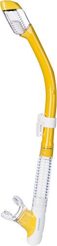 Cressi Tao Dry Tubo Respirador, Transparente/Amarillo, Talla Única