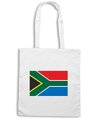 T-Shirtshock - Borsa Shopping TM0243 South Africa flag Bianco