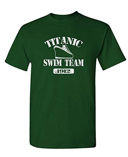 - Titanic Swim Team - 1912 History Joke - Mens Cotton T-Shirt XXXL -