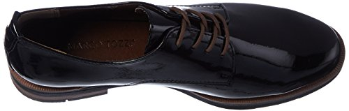 Marco Tozzi Damen 23202 Oxfords Schwarz (Black Patent)