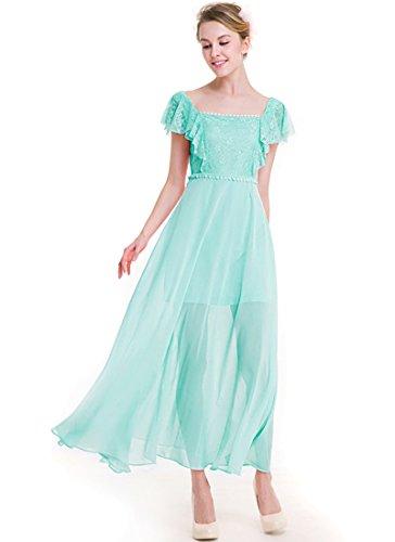 KAXIDY Vestiti Lunghi da Donna Vestito da Sera Lungo Abbigliamento Abito Lungo Verde