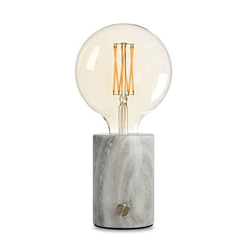 ORBIS-Lampe à poser variateur ampoule LED Globe Filament Marbre H25.5cm marbre gris Edgar