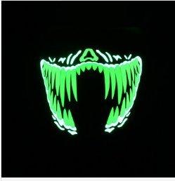 LaDicha Bikight Draußen Blinken Halb Gesichtsmaske Light Up Leuchtende Halloween Party Kostüm Raver (Raver Kostüm Halloween)