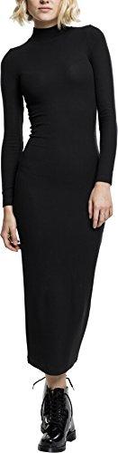 Urban Classics TB1710 Damen Kleid Ladies Long Turtleneck Dress Black, S