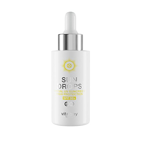 SUN DROPS 40 ml - UV Schutz Fluid LSF 50+ Protection - Gesicht Suncreen mit Anti Aging Effekt -...