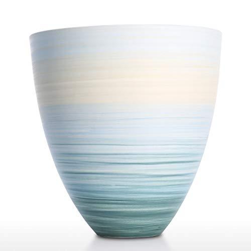 Hylotele Tooarts Keramik Blumenvase blau Vase Home Decor Vase Tabelle Mittelstücke Vase dekorative Herzstück für zu Hause oder Hochzeit