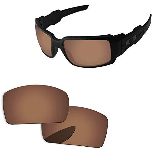 sunglasses restorer Kompatibel Ersatzlgläser für Oakley Oil Drum, Polarisierte Brown Gläser