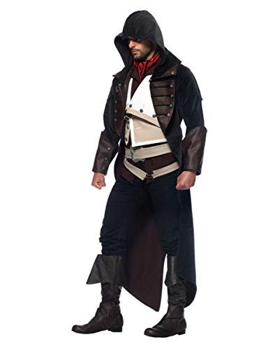 Horror-Shop Assassins Creed Arno Kostüm für Fasching & Halloween S (Für Erwachsene Assassins Creed Ezio Kostüm)