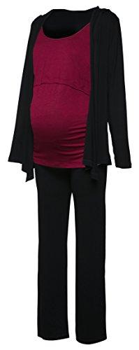 stands Set Still-Schlafanzug Strickjacke mit Kapuze. 688p (Purpur, EU 40, L) (Kapuzen Schlafanzug)