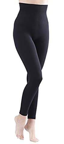 Damen Shapewear Slim Leggings, Taillen-Leggings, Bauchweg Miederhose, schwarz