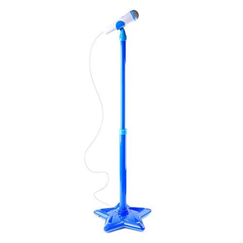 iVansa Kinder Karaoke Mikrofon, Kinder Karaoke Anlage Verstellbarer Standfuß Musikalisches Mikrofon, Mikrofone Musik Spielzeug mit Bluetooth Funktion, Geschenk für Kinder