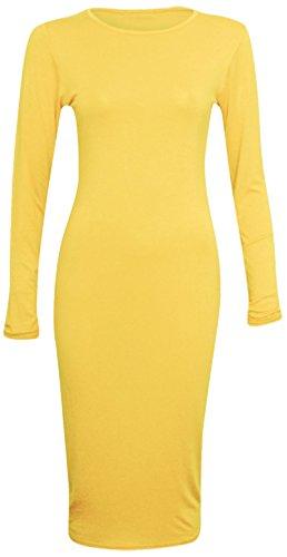 Candid Styles Damen Kleid Gelb - Jaune - Jaune
