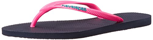 Havaianas Women's Slim Logo Pop Up Flip-Flop navy blue/pink 39 BR / 9-10 B(M) US