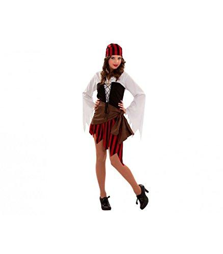 Imagen de disfraz de mujer pirata para chicas de talla s