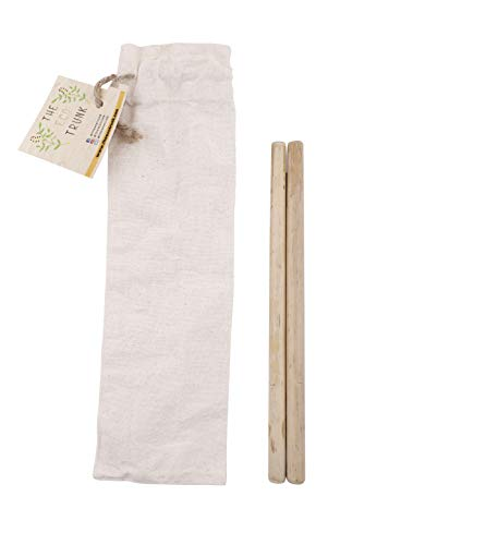 The Eco Trunk - Reusable, Eco-Friendly Bamboo Straws - Set Of 2