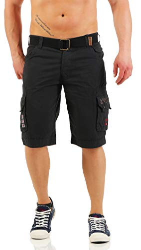 Geographical Norway Herren PARK MEN Sportshorts,,per pack Schwarz (BLACK),L